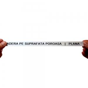 Etichete industriale autocolante, DYMO ID1 vinil, 24mm x 5.5m, negru/alb, 18054306
