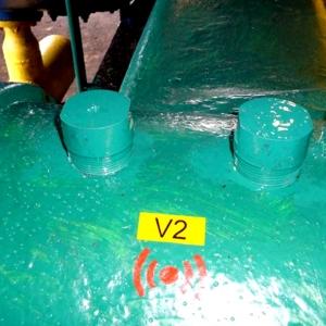 Etichete industriale autocolante, DYMO ID1 vinil, 24mm x 5.5m, negru/galben, 18054314