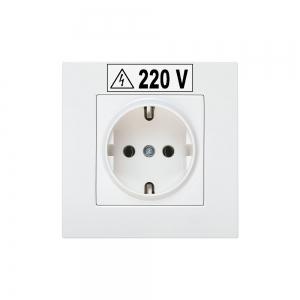 Etichete industriale autocolante, DYMO ID1, poliester permanent, 6mm x 5.5m, negru/alb, 18054425