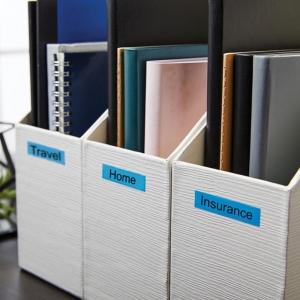 Etichete autocolante, DYMO LabelManager D1, 12mm x 7m, negru/albastru, 45016, S07205601