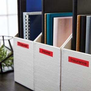 Etichete autocolante, DYMO LabelManager D1, 12mm x 7m, negru/rosu, 45017, S07205701