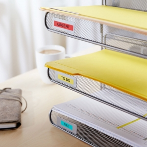 Etichete autocolante, DYMO LabelManager D1, 12mm x 7m, negru/galben, 45018, S07205806