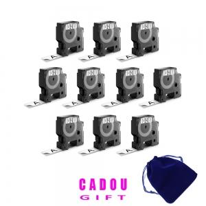Etichete autocolante plastifiate, DYMO LabelManager D1, 19mm x 7m, negru/alb, 10 buc/set, DY45803 S0720830 20930986