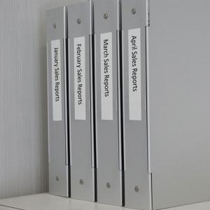 Etichete autocolante plastifiate, DYMO LabelManager D1, 19mm x 7m, negru/alb, 5 buc/set, 45803 S07208303