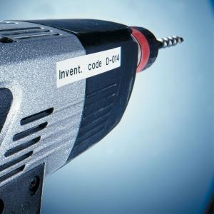 Etichete autocolante, DYMO LabelManager D1, poliester permanent, 19mm x 5.5m, negru/alb, 16960 S07180703