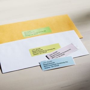 Etichete termice, DYMO LabelWriter, adrese, permanente, 28mmx89mm, hartie color, 4 role/cutie, 130 etichete/rola, 99011 99010 S07223802
