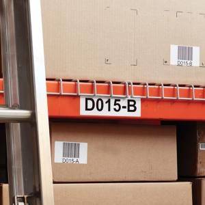 Etichete termice industriale, DYMO LabelWriter Durable, coduri de bare, 19mmx64mm, polipropilena alba, 1 rola/cutie, 900 etichete/rola, 19330852