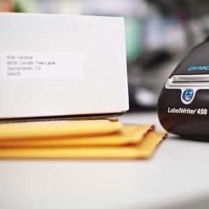 Etichete termice, DYMO LabelWriter, adrese mari, permanente, 89mmx36mm, hartie alba, 1 rola/cutie, 260 etichete/rola, 1983172 99012 S07224004