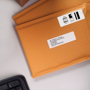 DYMO LabelWriter, Large Address Labels, permanent, 89mmx36mm, plastic clear, 1 roll/box, 260 labels/roll, S0722410 99012 S07224006