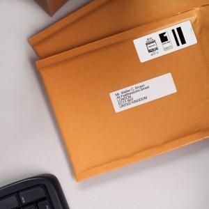 Etichete termice, DYMO LabelWriter, adrese mari, permanente, 89mmx36mm, plastic transparent, 1 rola/cutie, 260 etichete/rola, S0722410 99012 S07224006