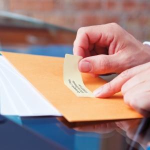Etichete termice, DYMO LabelWriter, adrese mari, permanente, 89mmx36mm, plastic transparent, 1 rola/cutie, 260 etichete/rola, S0722410 99012 S07224002