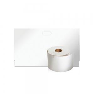 Etichete termice, DYMO LabelWriter, ecusoane/carduri mari, neadezive, 62mmx106mm, hartie alba, 1 rola/cutie, 250 etichete/rola, S09291101
