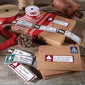 Etichete LabelWriter din hartie Lumberjack Holiday (dimensiuni 89 mm x 28 mm) 130 buc/rola (1960101) DY19601015
