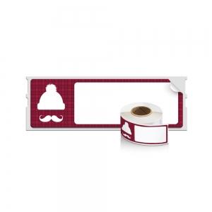 Etichete termice, DYMO LabelWriter, Lumberjack Holiday, permanente, 28mmx89mm, hartie alba, 1 rola/cutie, 130 etichete/rola, 19601011