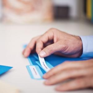 Etichete termice compatibile, DYMO LabelWriter, dosare suspendate, permanente, 12mmx50mm, hartie alba, 220 etichete/rola, 99017 S07224601