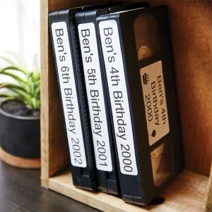 Etichete termice, DYMO LabelWriter, casete video, permanente, hartie alba, 2 role/cutie, 150 etichete/rola, 99016 S07224502