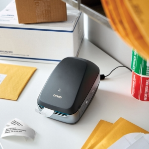 Imprimanta termica DYMO LabelWriter 460 Wireless, aparat de etichetat negru 2000931 2000932 DY8387705