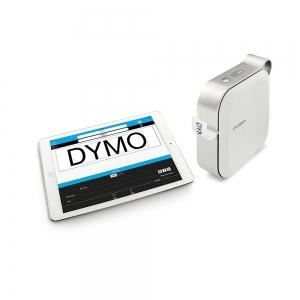 Imprimanta Etichete Bluetooth Dymo MobileLabeler si o caseta etichete profesionale D1 12 mm x 3m, negru/argintiu, 1978246, DY 20844015