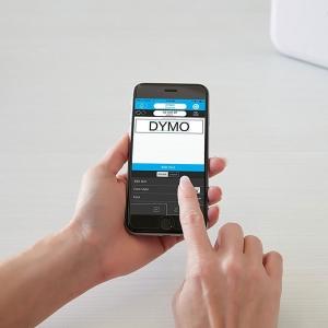 Imprimanta Etichete Bluetooth Dymo MobileLabeler si o caseta etichete profesionale D1 12 mm x 3m, negru/argintiu, 1978246, DY 20844016