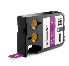 Etichete Dymo XTL vinil  12 mm x 7 m, alb/violet