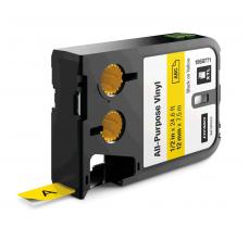 Etichete Dymo XTL vinil  12 mm x 7 m, negru/galben