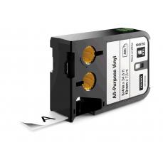Etichete Dymo XTL vinil  19 mm x 7 m, negru/alb