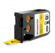 Etichete Dymo XTL vinil  19 mm x 7 m, negru/galben