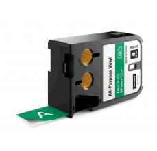 Etichete Dymo XTL vinil  24 mm x 7 m, alb/verde
