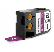 Etichete Dymo XTL vinil  24 mm x 7 m, alb/violet
