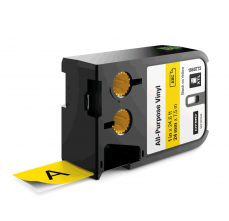 Etichete Dymo XTL vinil  24 mm x 7 m, negru/galben