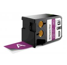 Etichete Dymo XTL vinil  41 mm x 7 m, alb/violet