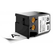 Dymo XTL vinil  54 mm x 7 m, negru/alb0