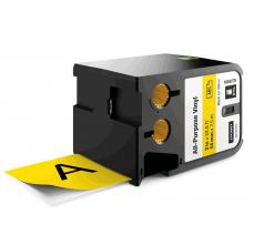 Etichete Dymo XTL vinil  54 mm x 7 m, negru/galben
