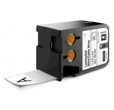 Etichete Dymo XTL vinil autolaminant 38mm x 102mm, albe, 75 etichete/banda
