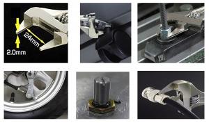 Cheie reglabila subtire si inteligenta ENGINEER TWM-08, 110 mm, de buzunar, fabricat in Japonia4