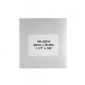 Etichete termice autocolante compatibile, Brother DK-22210, hartie alba, modul continuu, 29mmx30.48m, suport din plastic inclus DK22210-C3