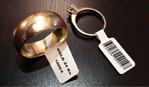 Pachet promotional: Aparat de etichetat profesional DYMO LabelWriter 450 si 3 etichete bijuterii si rame ochelari3