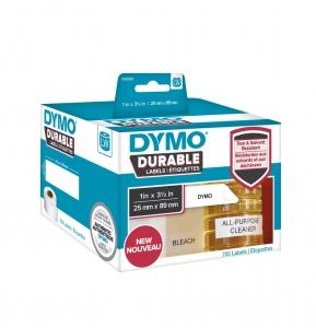 Etichete DYMO Durable LabelWriter din plastic alb (dimensiuni 25 mm x 89 mm) 700buc/rola0