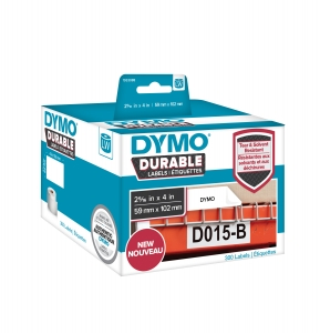 Etichete termice industriale, DYMO LabelWriter Durable, transport, 59mmx102mm, polipropilena alba, 1 rola/cutie, 300 etichete/rola, 19330880
