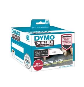 Etichete DYMO Durable LabelWriter din plastic alb, (dimensiuni 59 mm x 190 mm) 170buc/rola0