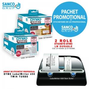 Etichete DYMO  LabelWriter DURABLE si Aparat etichetat DYMO LabelWriter 450 TWIN0