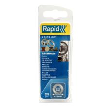 Saibe Rapid pentru ocheti  diametru 10 x 21 mm, aluminiu, sitem fixare inclus, 25 buc/ blister1