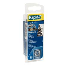 Saibe Rapid pentru ocheti  diametru 10 x 21 mm, aluminiu, sitem fixare inclus, 25 buc/ blister0