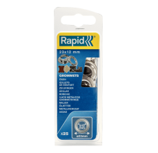 Saibe Rapid pentru ocheti diametru 12 x 23mm, aluminiu, sitem fixare inclus, 25 buc/ blister1