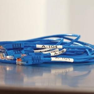 Etichete tub termocontractibil compatibile, DYMO ID1, 12mm x 1.5m, negru/alb, 18055 S0718300-C3