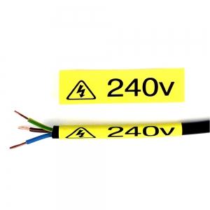 Etichete tub termocontractibil, DYMO ID1, 6mm x 1.5m, negru/galben, 18052 S07182702