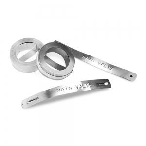 Etichete compatibile metalice embosabile industriale DYMO, 12mmx6,4m, otel inoxidabil DYA3250010