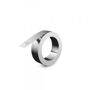 Etichete compatibile metalice embosabile industriale DYMO, 12mmx6,4m, otel inoxidabil DYA325000