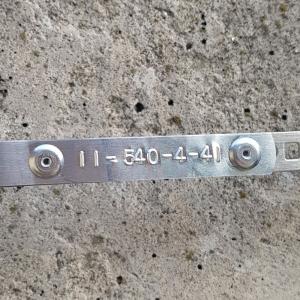 Etichete compatibile metalice embosabile industriale DYMO, 12mmx6,4m, otel inoxidabil DYA325006
