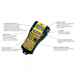 Aparat etichetat industrial Dymo Rhino 5200 kit cu servieta, ABC, 19mm, S0841400 PTE300VPYJ1 DE272939534 84140012